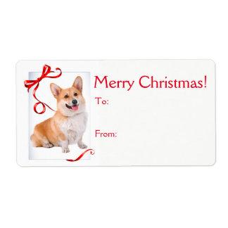 Corgi Christmas Gift Stickers