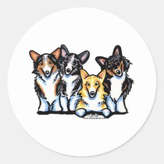 Corgi Clan Round Sticker