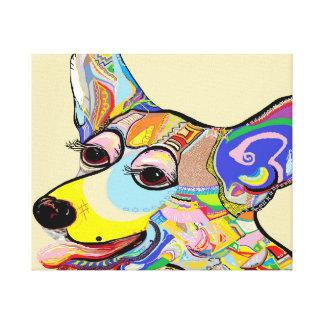 Corgi Close Up Canvas Print