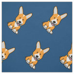 Corgi Corgis dog puppy doggy happy Pembroke Welsh Fabric