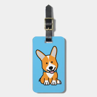 Corgi Corgis dog puppy doggy happy Pembroke Welsh Luggage Tag