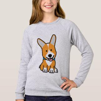 Corgi Corgis dog puppy doggy happy Pembroke Welsh Sweatshirt