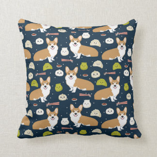 Corgi Dim Sum pillow cute kawaii food