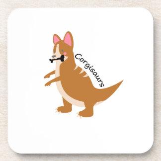 Corgi Dinosaurs T-Rex Corgisaurs Love Dog Funny Coaster