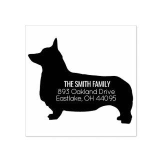 Corgi Dog Address Stamp