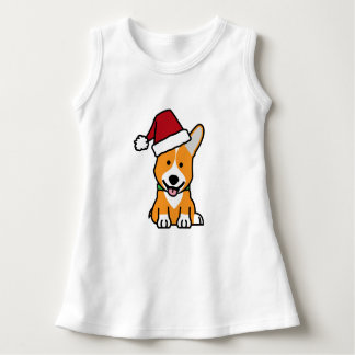 Corgi dog puppy Pembroke Welsh Christmas Santa hat Dress