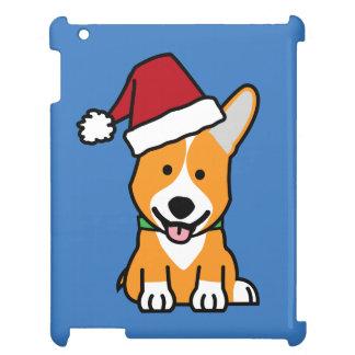 Corgi dog puppy Pembroke Welsh Christmas Santa hat iPad Cover