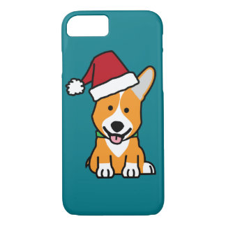 Corgi dog puppy Pembroke Welsh Christmas Santa hat iPhone 8/7 Case