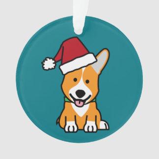 Corgi dog puppy Pembroke Welsh Christmas Santa hat Ornament