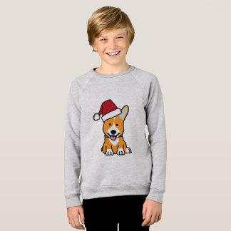 Corgi dog puppy Pembroke Welsh Christmas Santa hat Sweatshirt