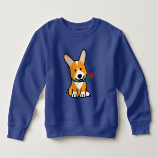 Corgi dog puppy Pembroke Welsh Valentine Rose Sweatshirt