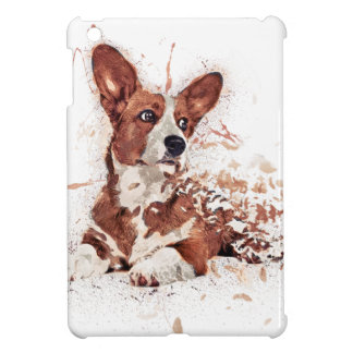 Corgi feather iPad mini case
