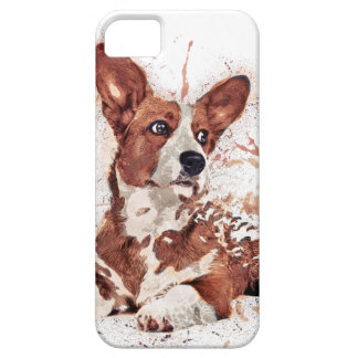 Corgi & Feather iPhone 5 Cases
