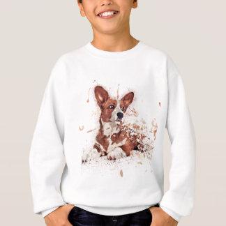 Corgi feather sweatshirt