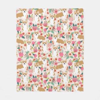 Corgi Florals blanket - cute corgi gift
