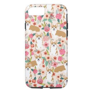 Corgi Florals iPhone case - cream