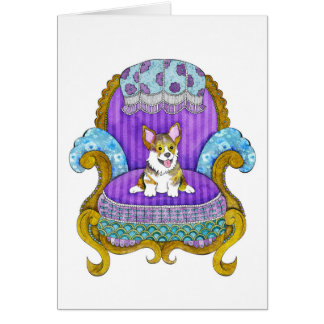 Corgi in Chair Card