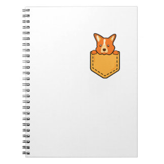 Corgi In Pocket Love Pet Puppy Dog Funny Spiral Notebook