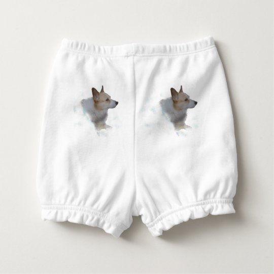 Corgi In the Clouds Baby Bloomers Diaper Cover