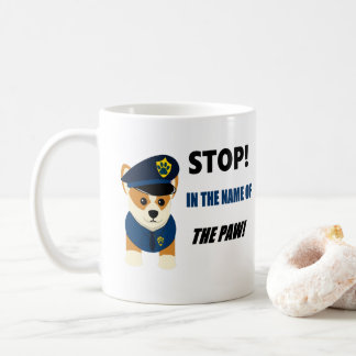 Corgi K9 Unit Cute Police Mug