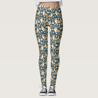 Corgi Leggings - cute funny corgi gifts