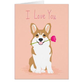 Corgi Love Valentines card