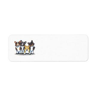 Corgi Lover Return Address Label