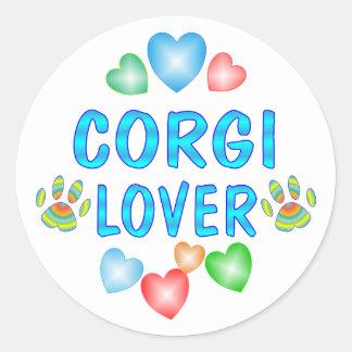 Corgi Lover Round Sticker