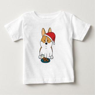 Corgi Milk and Cookies Baby T-Shirt