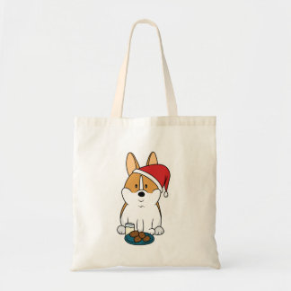 Corgi Milk and Cookies Tote Bag