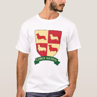Corgi Nation Crest T Shirt