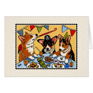 Corgi Party Dog Notecard