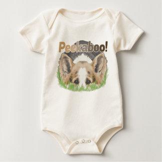 Corgi Peekaboo Baby Bodysuit