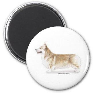 Corgi -- Pembroke Welsh 2 Inch Round Magnet