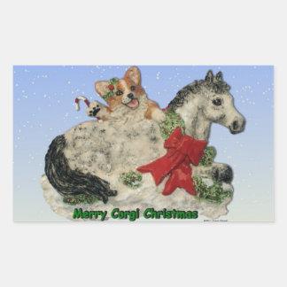 Corgi & Pony Merry Corgi Christmas Stickers