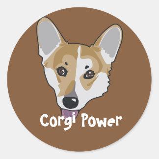 Corgi Power Sticker