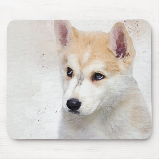 Corgi Puppy Watercolor Painting for Dog Lover Mouse Pad