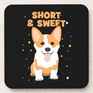 Corgi - Short and Sweet, Cute Dog Cartoon, Novelty Coaster