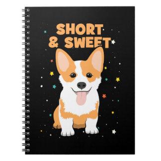 Corgi - Short and Sweet, Cute Dog Cartoon, Novelty Notebook
