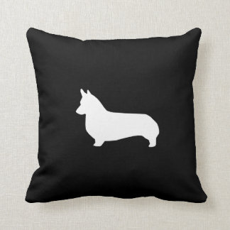 Corgi Silhouette Pillow - cute corgi design