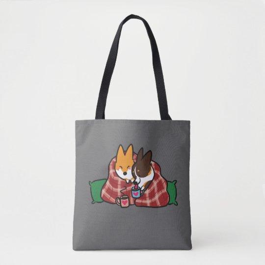 Corgi Snuggles Premium Tote Bag