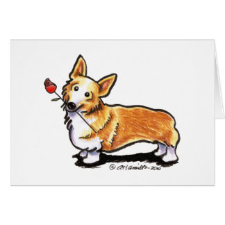 Corgi Sweetheart Card