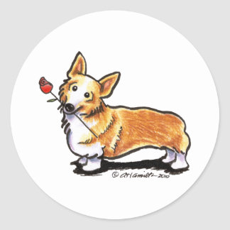 Corgi Sweetheart Classic Round Sticker