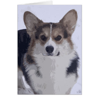 Corgi Tri-Color Card