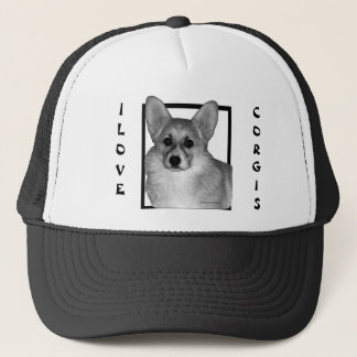 Corgi Trucker Had Trucker Hat
