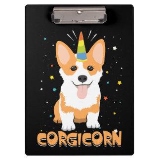 Corgi Unicorn - Corgicorn - Cute Dog Cartoon Clipboard