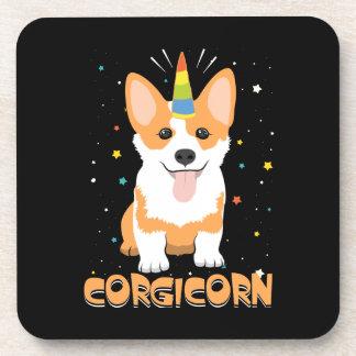 Corgi Unicorn - Corgicorn - Cute Dog Cartoon Coaster