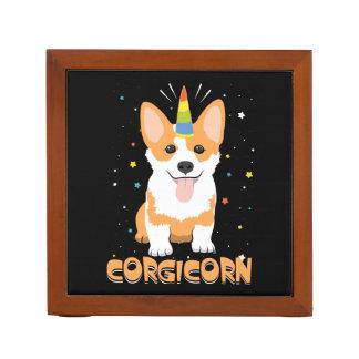 Corgi Unicorn - Corgicorn - Cute Dog Cartoon Desk Organizer