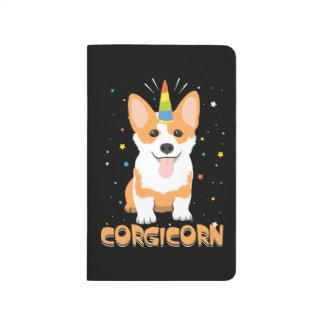 Corgi Unicorn - Corgicorn - Cute Dog Cartoon Journal
