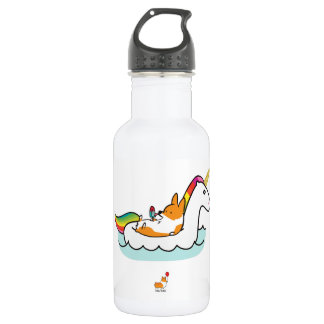 Corgi Unicorn Floatie Water Bottle